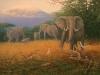 4 Elefanten vor dem Kilimanjaro__Größe:70x50cm__Preis: 200€ (o.R.)