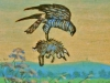 Falke mit Hasen