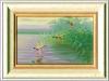 25 Enten am Wasser__Größe: 15x10cm__Preis: 110€ (m.R.)