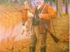 46 Jäger mit Hasen und Fasan__Größe: 40x30cm__Preis: 150€ (o.R.)
