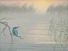 80 Morgenstimmung Eisvogel am See__Größe: 24x18cm__Preis: 150€ (m.R.)